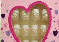 BC Missy False Nails – Heart Shaped Design