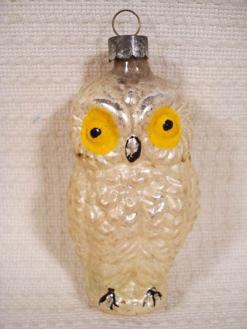 antique glass owl christmas ornament ugglor. Black Bedroom Furniture Sets. Home Design Ideas
