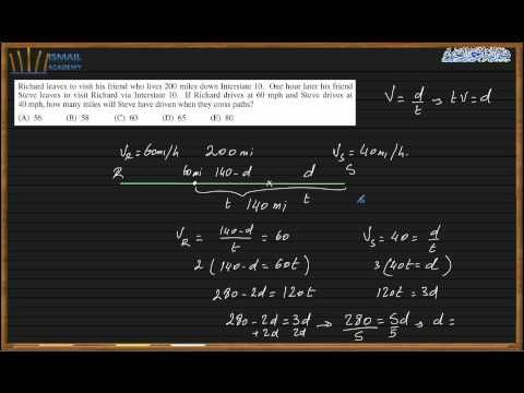 This video is about SAT Math Practice, it will show you how to solve any SAT math questions related with Word Problems Duration: 28:53