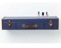 Kare Design :: Półka ścienna Suitcase ciemnoniebieska