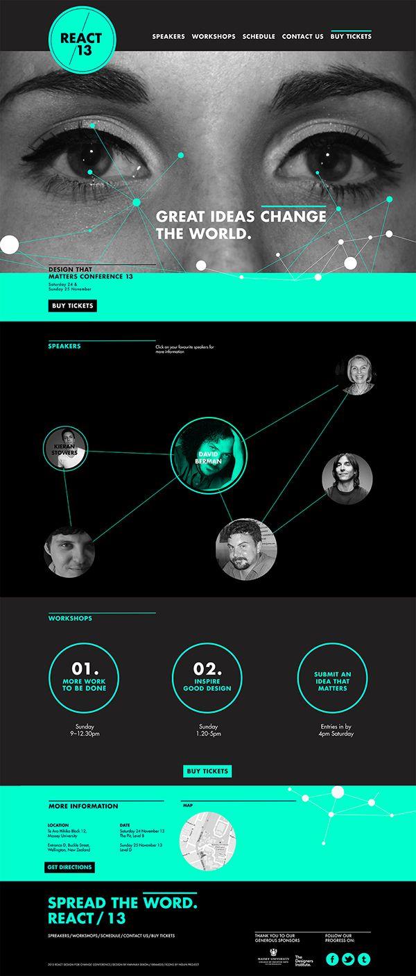 React Conference Website Design on Behance