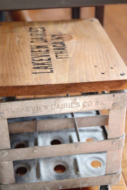 WoodandGalvanizedStool thumb Junkers United – Repurposed Milk Crate Stool