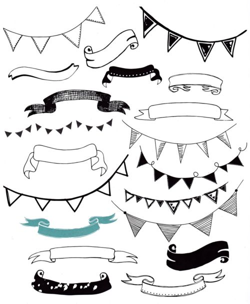 Be patriotic today and learn to draw banners and pennants from a sneak peek at Rachael Taylor's 20 Ways Doodle!