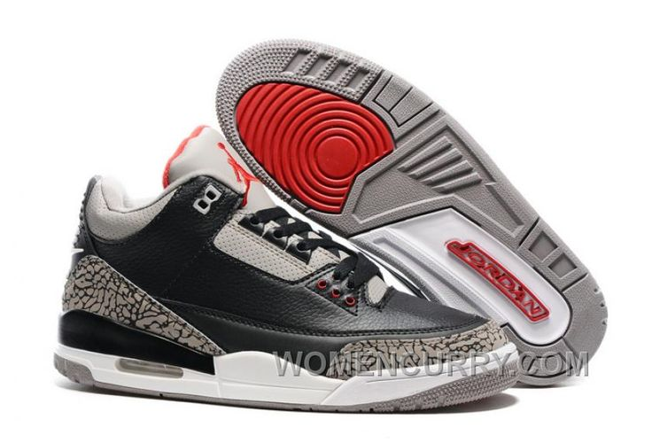 """https://www.womencurry.com/2017-mens-air-jordan-3-black-cement-for-sale-cheap-to-buy-ykakngk.html 2017 MENS AIR JORDAN 3 """"BLACK CEMENT"""" FOR SALE CHEAP TO BUY 5THINAZ Only $88.00 , Free Shipping!"""