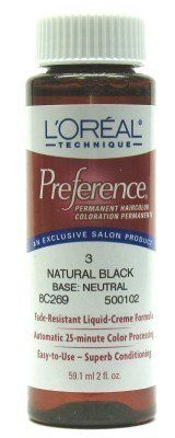 Loreal Preference Color 3 Natural Black 6 Pack * Check out the image by visiting the affiliate link Amazon.com on image.