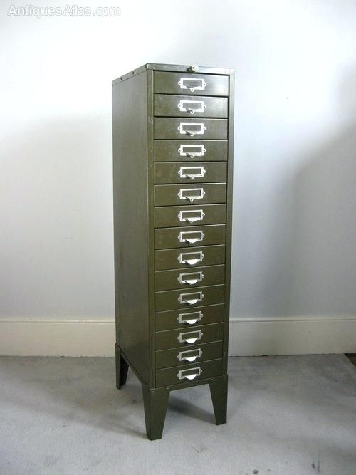 Vintage Metal Filing Cabinet For Sale