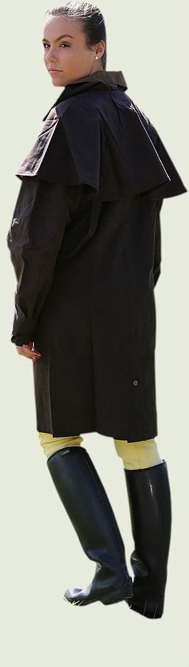 Long Oil Skin Riding Coat  Heavy Weight 100% Cotton Oil Skin Fabric treated with natural paraffin wax. Cotton twill lining of same color as of attached picture.Genuine oilskin Riding Coat is an action coat. $74.95 To Buy Log On to >>> http://www.unicornequestrian.com.au/long-brown-oilskin-coat-waterproof-riding-jacket/