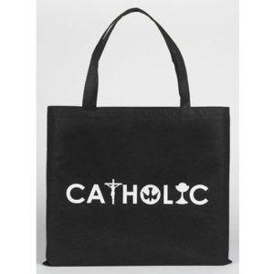 bolsa de nylon simbolos catolicos