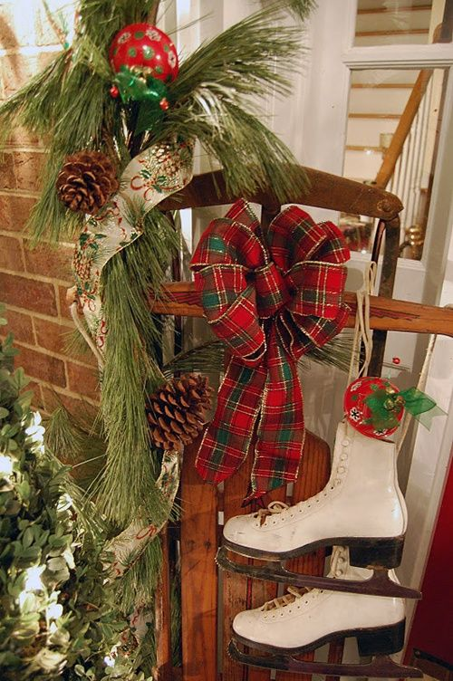 16 best Sleds images on Pinterest Country christmas, Primitive - country christmas decorations