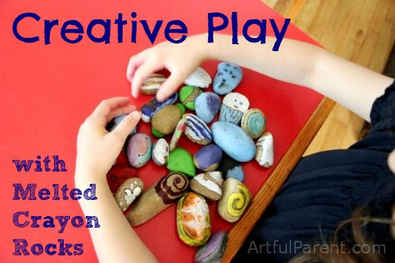 Creative Play with Melted Crayon Rocks...: Melted Crayons, Kids Activities, Summer Activities, Kids Crafts, Kids S Plays, Creative Plays, Great Ideas, Crayons Rocks, Lion Parties