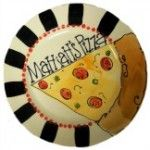 Personalized hand painted pottery pizza plate  #asyouwishpottery