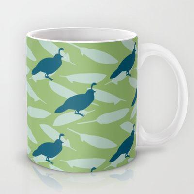 Californian Quail and home-grown sage mug by Emma Makes. $15