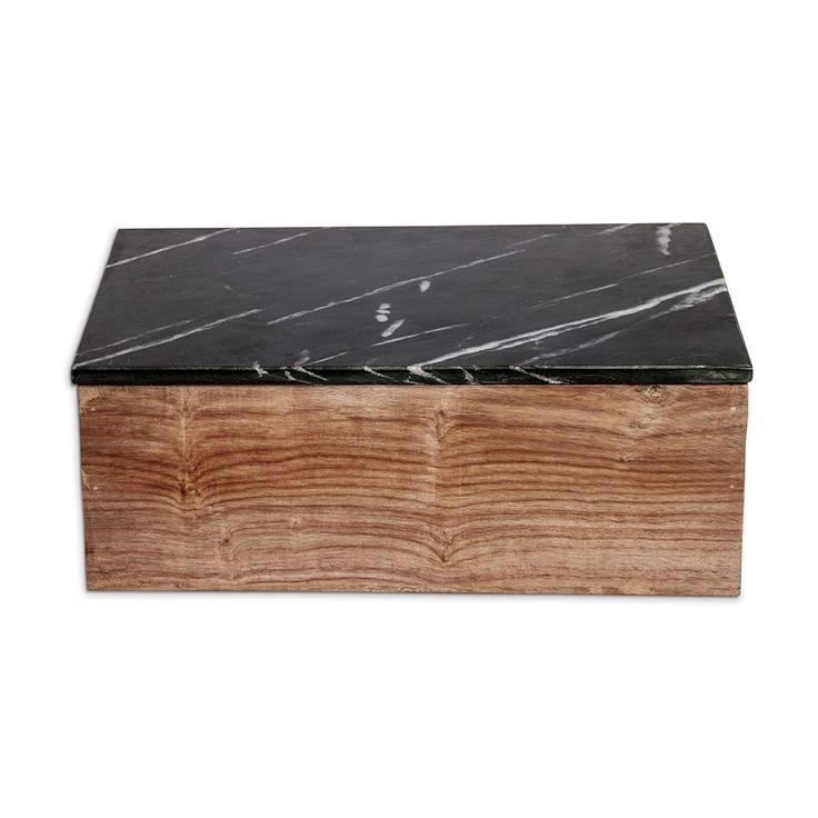 Nordstjerne Wooden Box with Black Marble Lid