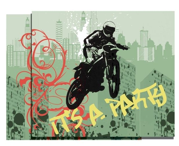 Xtreme Action Party Supplies | Party Invitations | Motorbike Party Decorations