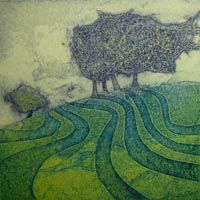 Sarah Ross-Thompson- collagraph print