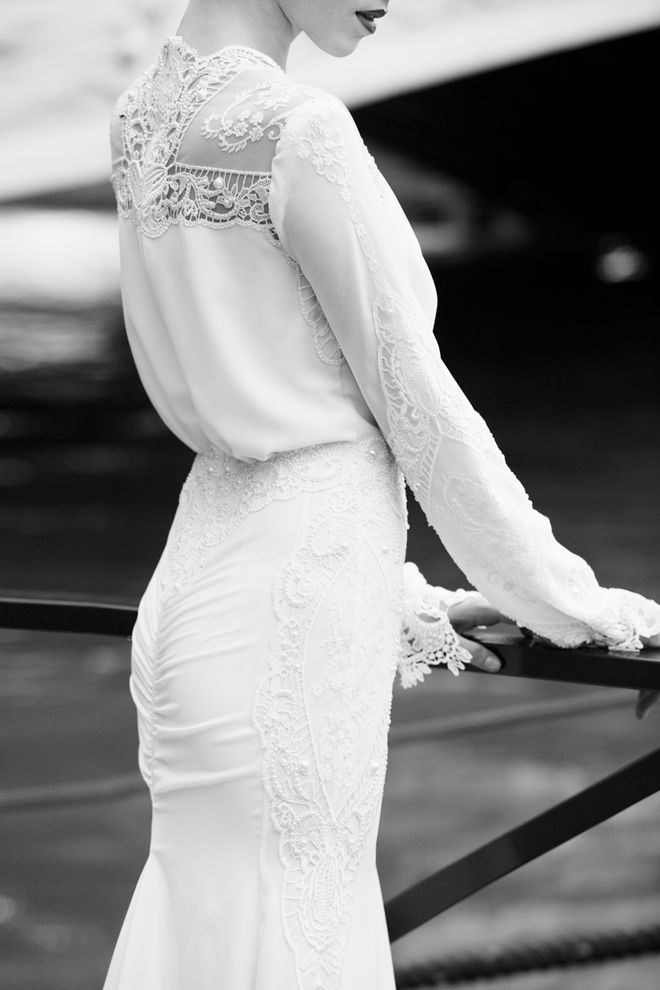 Berta Bridal 2013 ... Wedding gown ... Ivory long sleeved lace and satin wedding dress ... Rustic glamorous, country elegance, shabby chic, vintage, boho, best day ever