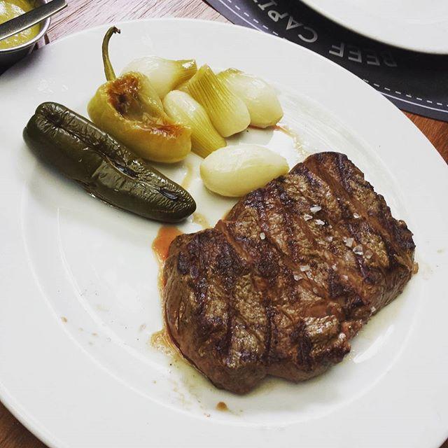 リブアイステーキ🍴  #steak #beef #dinner #foodpic #foodporn #foodstagram #肉#リブアイ#ステーキ