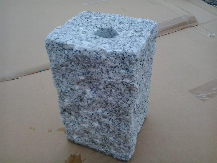 wasserbrunnen quellstein granit s ule naturstein brunnen springbrunnen wasserspiel 40 cm. Black Bedroom Furniture Sets. Home Design Ideas