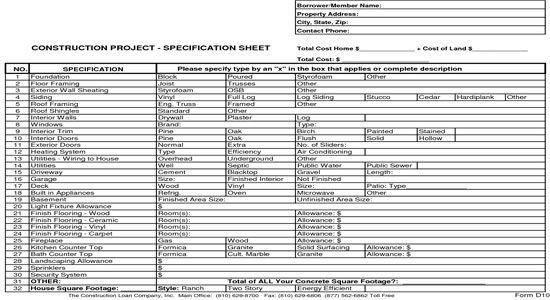 New Home Construction Bid Sheet: http://www.quantity-takeoff.com/new-home-construction-bid-sheet.htm
