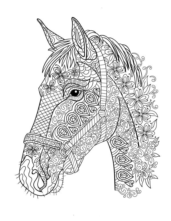 Stress Relief Horses Coloring Pages Ausmalbilder Coloring Pages