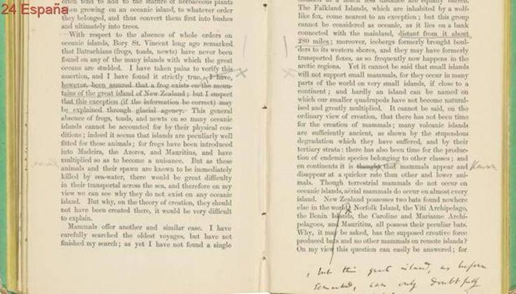 Una copia de «El origen de las especies» con anotaciones de Darwin, a subasta en Londres