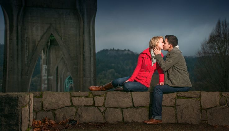 Cathedral Park St. John's Portland Engagement Session | Jessica & Boni » Hoddick Photography
