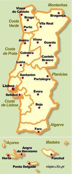 Portugal Travel Map