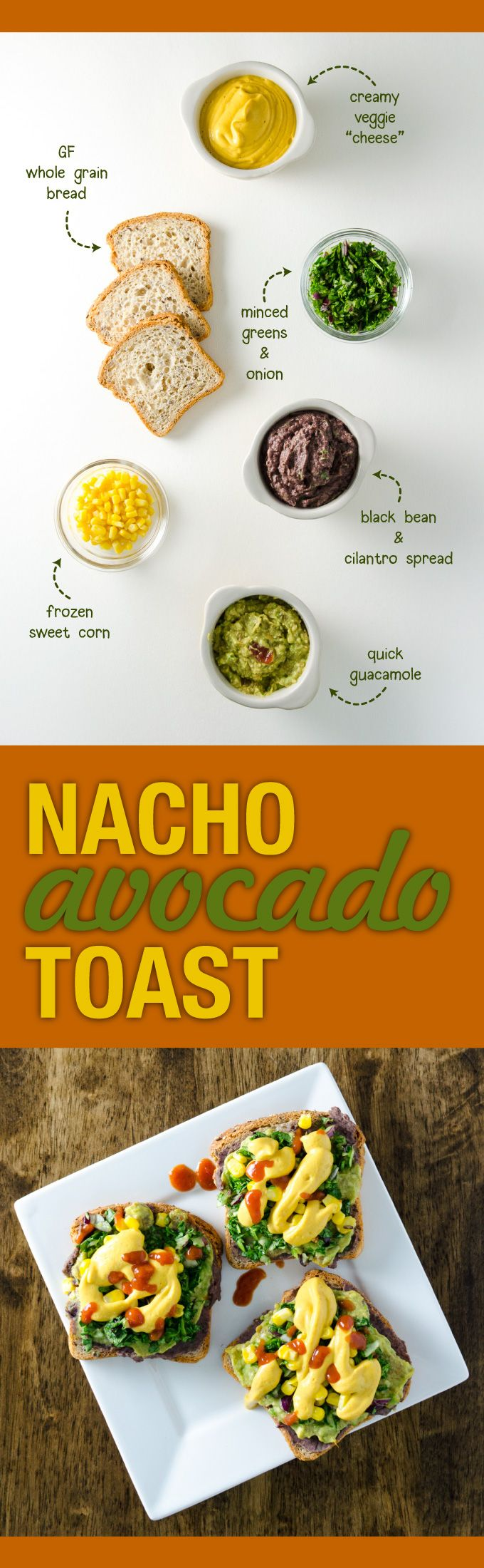 "Nacho Avocado Toast - a delicious vegan, gluten free, ""cheesy"" recipe that's quick and easy - makes a perfect breakfast, lunch or snack 