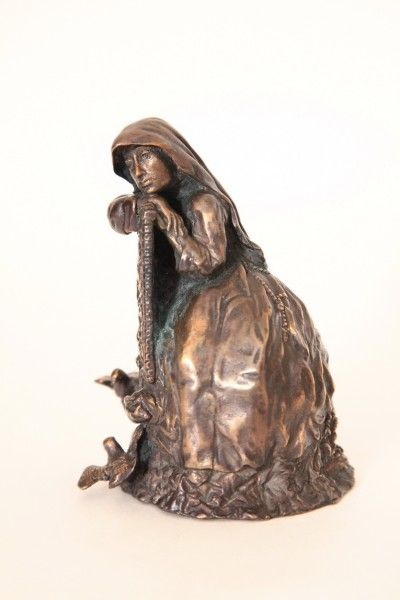 Italian Nun Bronze Bell. 12 cm. (March 2012), based on a statue by Pietro Canonica from a series of bronze table bells Kiev, Ukraine.
