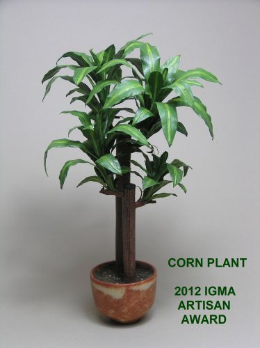 Mini Corn Plant : Dollhouse miniature corn plant by igma fellow carolyn