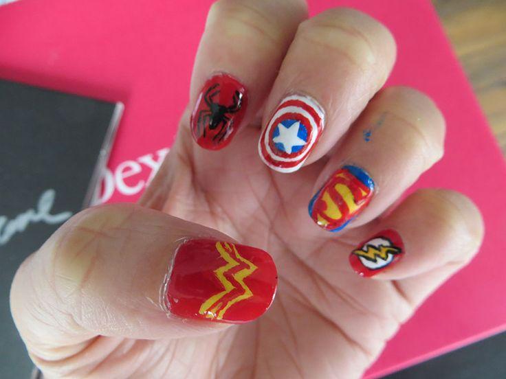1000 images about superheros nails on pinterest nail - Decoracion de unas fotos ...