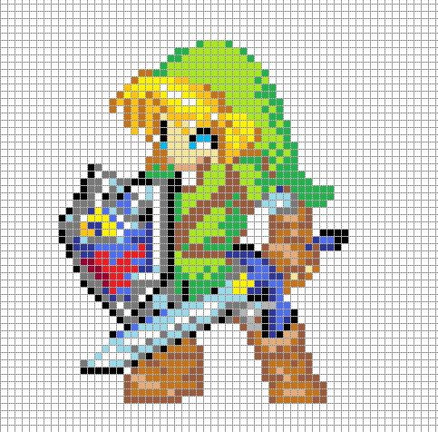 Link Pixel Art Grid by ~Hama-Girl on deviantART