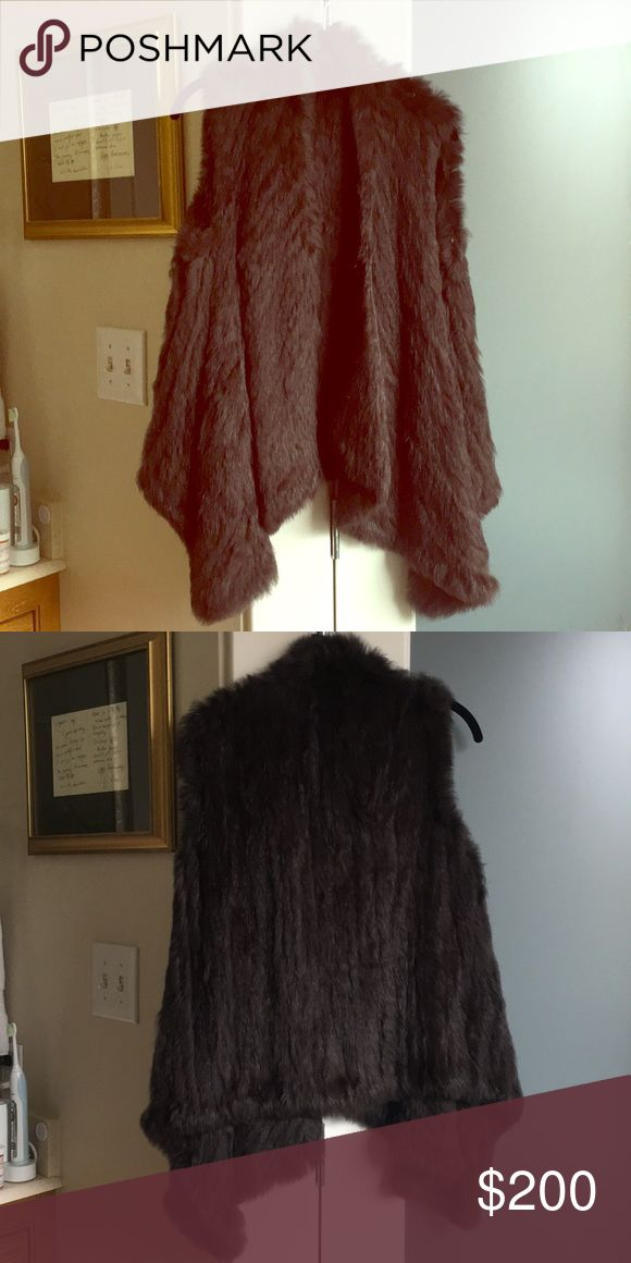 I just added this listing on Poshmark: *24 hr. PRICE DROP* Chocolate rabbit fur vest. #shopmycloset #poshmark #fashion #shopping #style #forsale #Jackets & Blazers