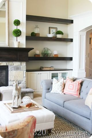 Living Room Helves best 25+ fireplace shelves ideas on pinterest | alcove shelving