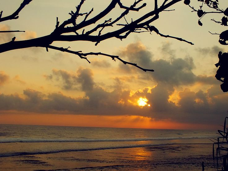 sunset in Pok Tunggal beach, beauty Gunung Kidul