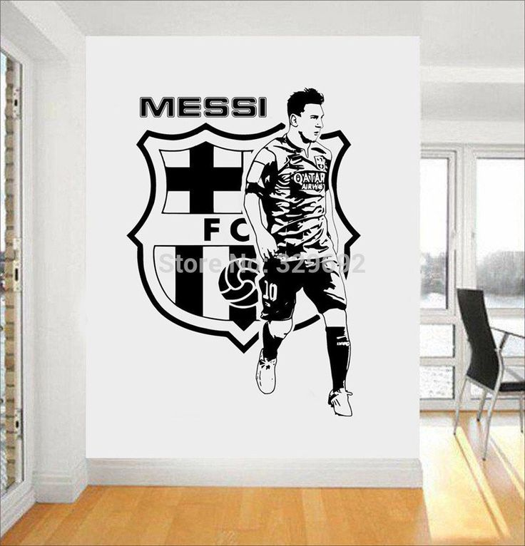 Football Team Logo Wall Art Sticker Messi Vinyl Wall Sticker – GetheBuzz