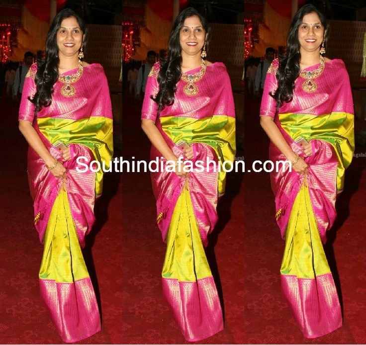 Parrot Green Kanjeevaram Saree ~ Celebrity Sarees, Designer Sarees, Bridal Sarees, Latest Blouse Designs 2014