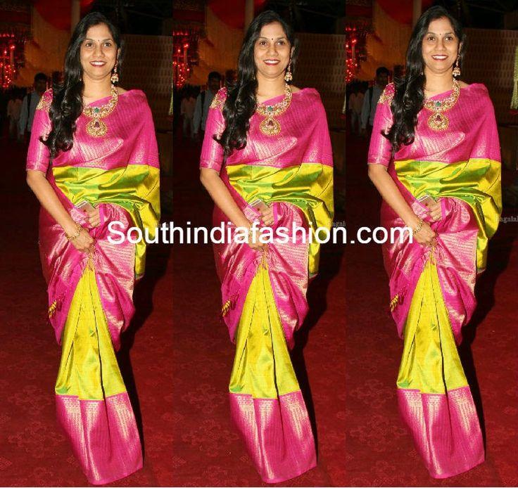Parrot Green Kanjeevaram Saree ~ Celebrity Sarees, Designer Sarees, Bridal Sarees, Latest Blouse Designs 2014