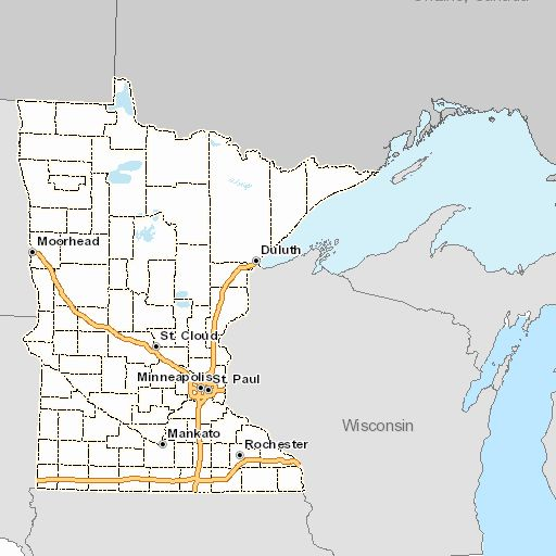 Best Maps Minnesota Environmental Health Images On Pinterest - Minnesota on a us map