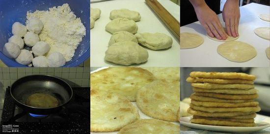 Making Cretan pies