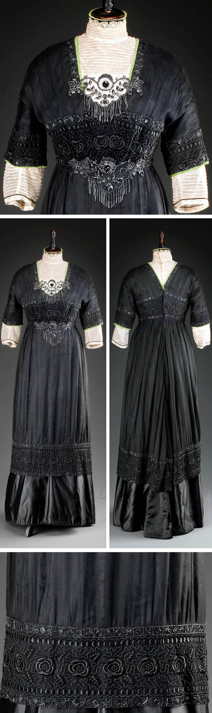 Dress, Prague, ca. 1912. Silk. Photo: Kocourek Ondřej, Gabriel Urbanek. Museum of Decorative Arts, Prague, via eSbirky.cz