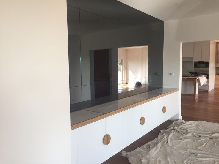 6mm Grey Mirror Wall Panelling