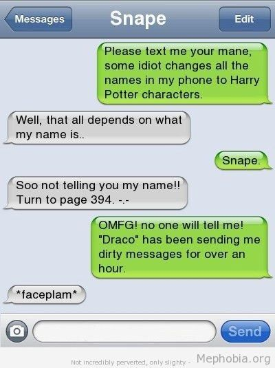 "I am so doing this to Dave when I get chance!!!!!!  The ""Harry Potter"". 