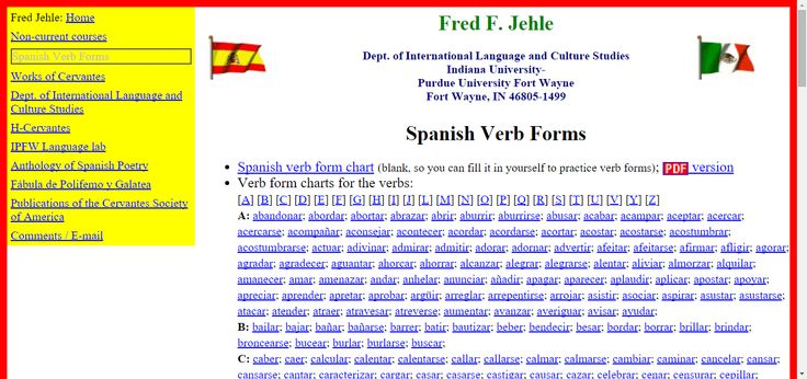Spanish Verb Forms | Perfect Tenses | Pinterest | Verb forms ...
