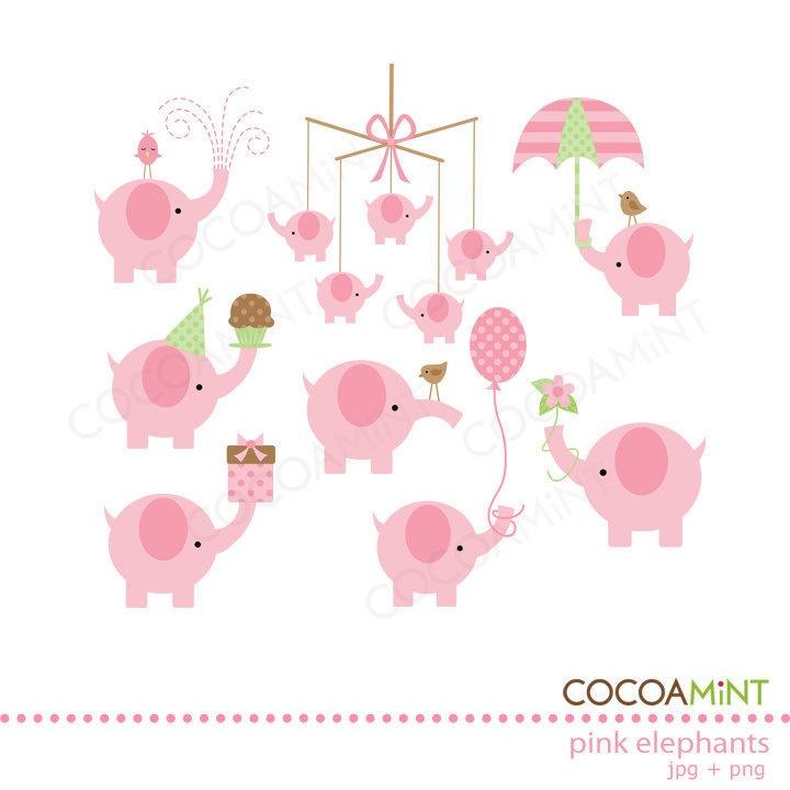 clip art pink elephant - photo #50