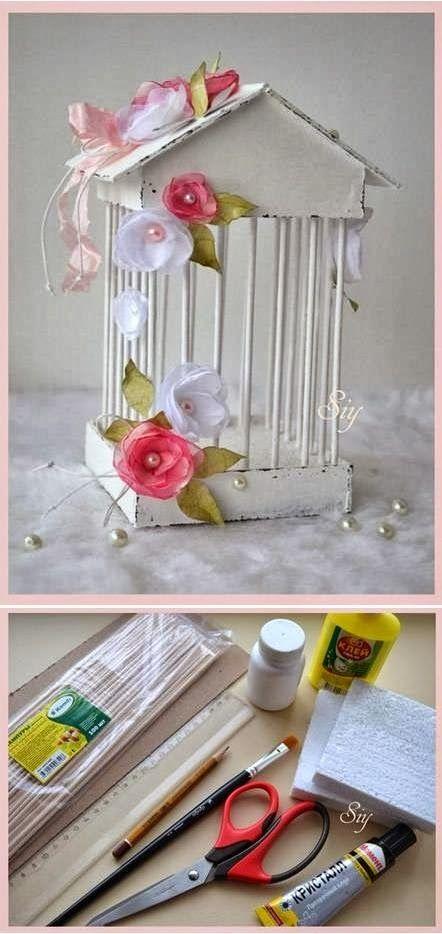 * Mi Casa Inventada *: Jaula Shabby Chic - DIY
