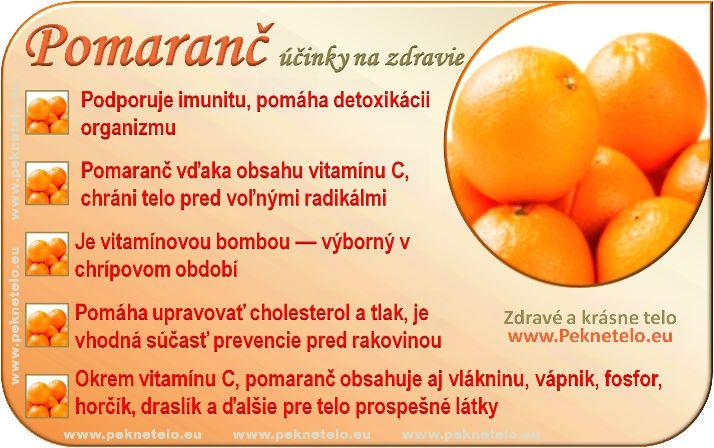 Pomaranč - účinky na zdravie a chudnutie