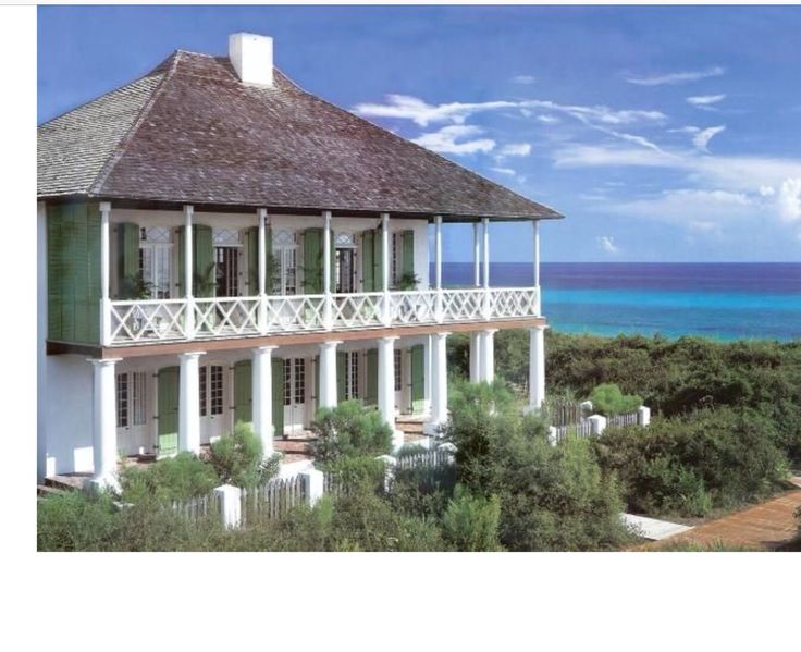 French West Indies style home in Rosemary Beach, FL designed by Domin Bock Architects.