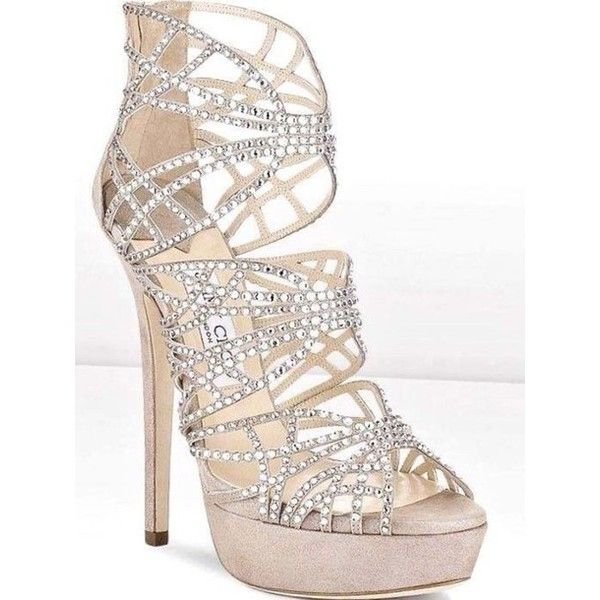 Shoes: dimonds high heels glitter prom silver silver party ❤ liked on Polyvore…