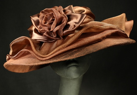 Marlene's Chris, created for a very special lady - perfect for the Derby!: Color, Rose Curls, Silk Rose